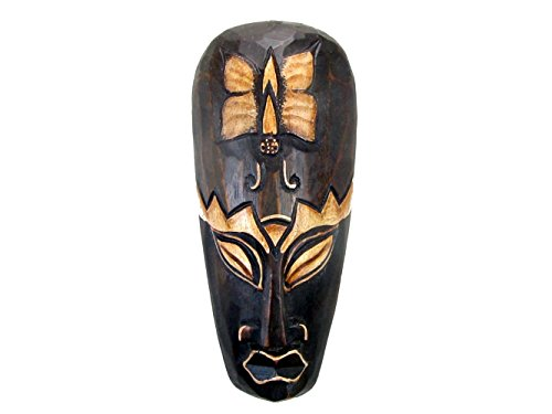 Hand Carved African Tribal Wooden Mask, Beauty, 8