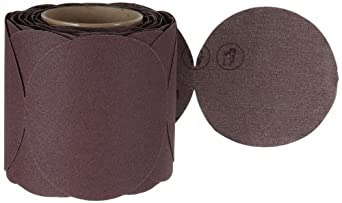 "3M Stikit Cloth Disc Roll 341D, PSA Attachment, Aluminum Oxide, 5"" Diameter, P120 Grit (Roll of 100)"