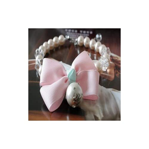 Cute Princess Beaded Necklace Bow Tie Collar for Dog Leash & Pet Store Supplies-Size L coupons 2015