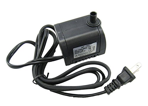 Lsgoodcare 110V 7W USB Submersible Water Pump Electric Garden House Hydroponics Fountain Pond Statuary Aquarium Pumping