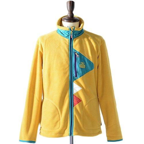 CHUMS チャムス フリースジャケット Polar Flag Jacket CH04-0620 ジップアップ フリース ジャケット 正規取扱品 (XL, 5.Yellow)