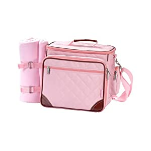baby boo pink deluxe insulated diaper bag diaper tote bags baby. Black Bedroom Furniture Sets. Home Design Ideas