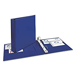 Avery Consumer Products Products - Durable Slant-Ring Binder, 1-1/2amp;quot;, 11amp;quot;x8-1/2amp;quot;, Blue - Sold as 1 EA - Binder features a Gap-Free ring design that prevents gapping and misalignment of rings. Slant ring design of binder holds up to