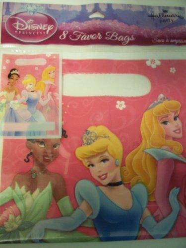 Disney Princess Set of 8 Favor Bags ~ Tiana, Cinderella, Sleeping Beauty