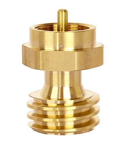 DozyAnt QCC1 Disposable Propane Cylinder Bottle Adapter- 1LB Propane Tank for Gas Grill Connector, Quality Brass,Type1 (Propane Tank Hook Up compare prices)