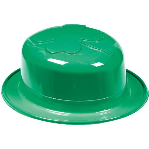 St. Patrick's Day Green Plastic Derby Hat 10in
