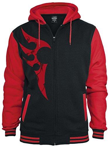 Red Smoky Tribal Felpa jogging nero/rosso XXL