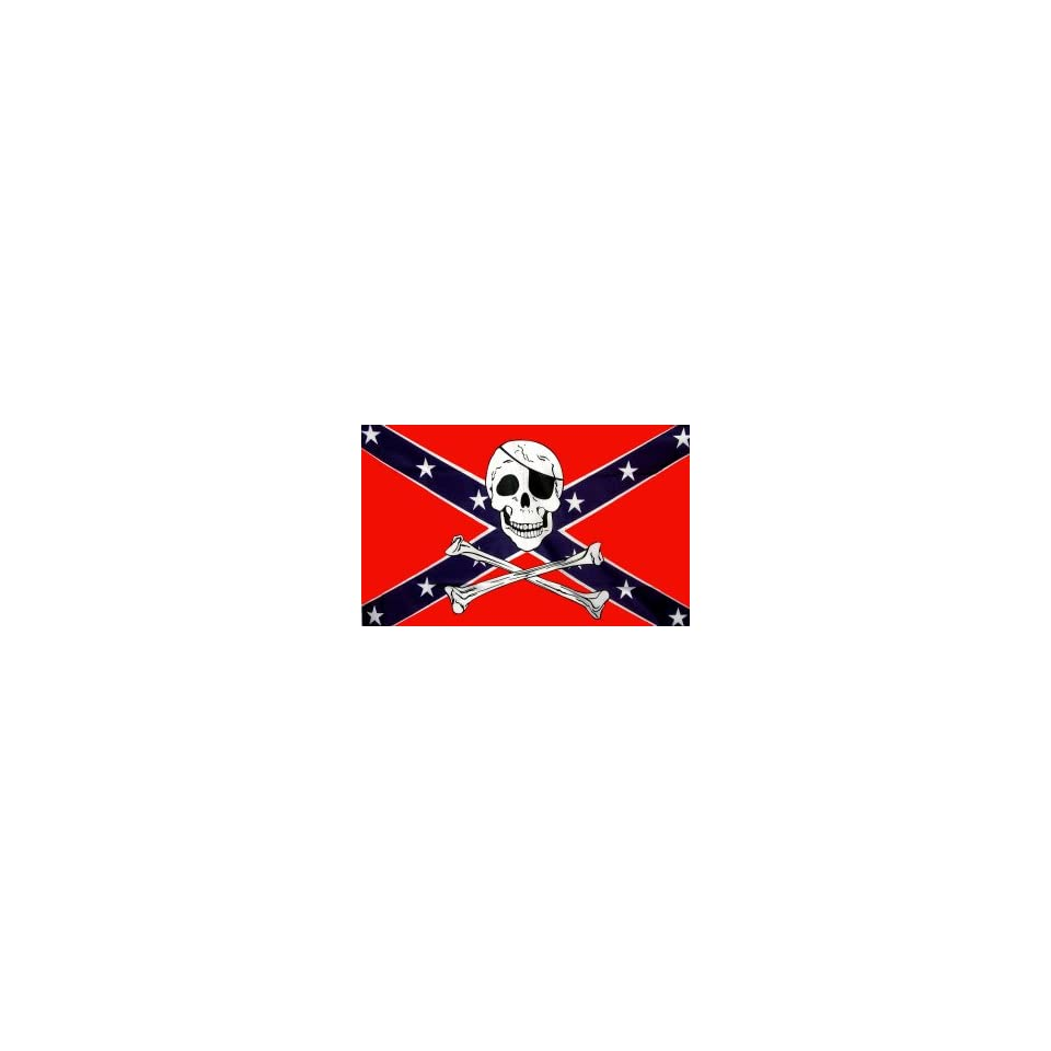 Rebel Skull X Cross Bones Flag   Nylon Polyester   (3 x 5)