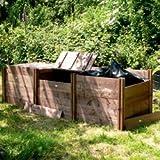 FSC 'Classic' Triple Wooden Compost Bin
