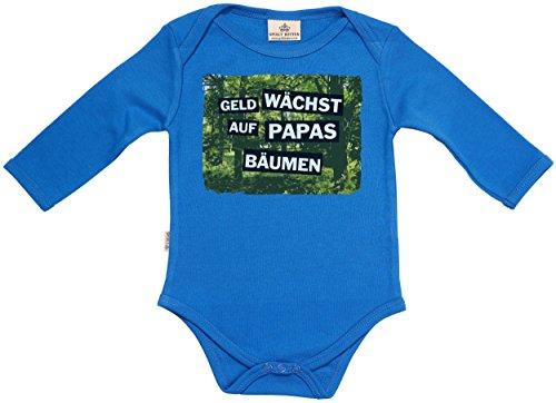 geld w chst auf papas b umen baby spieler baby strampler baby geschenk in milcht te blau. Black Bedroom Furniture Sets. Home Design Ideas