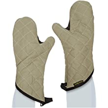 "San Jamar 800FG15 BestGuard Temperature Protection Oven Mitt with WebGuard, 15"" Length, Tan"