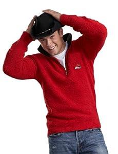 NCAA Louisville Kashwere U Half Zip Pullover with Contrasting Collar, Red Black,... by Kashwere U