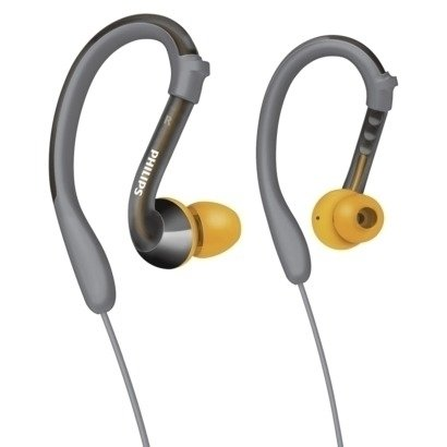 Philips Actionfit Earhook Headphones Tuned For Sports - Gray