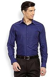 Raymond Men's Casual Shirt (8907254865374_RQSH00016-B6_40_Dark Blue)
