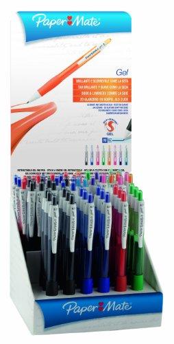 Papermate Gel Pen - Bolígrafo (Multi, Negro, Azul, Verde, Rojo, De plástico)