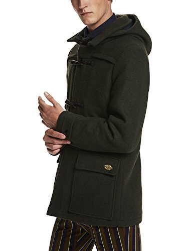 Scotch & Soda Classic Duffle Coat in Wool Quality, Giacca Uomo, Grün (Racing Green Melange 7B), Medium