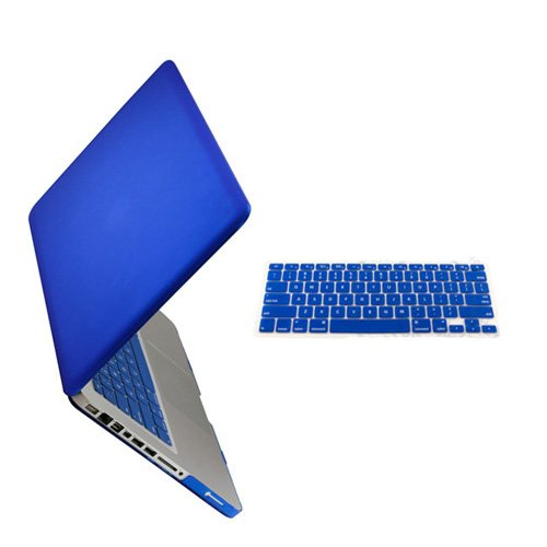 "Easygoby 2 In 1 Rubberized Frosted Silky-Smooth Soft-Touch Hard Shell Case Cover For 13-Inch Macbook Pro 13.3"" (Model: A1278)+ Keyboard Cover-Royal Blue"