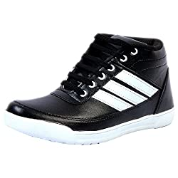 Duppy Mens Black Synthetic Sneakers ( DPY018BLKMI_6 ) - 6
