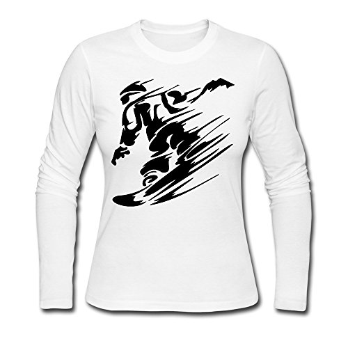 LCNANA Snow Boarder Women's Cotton T-Shirt White S (Bbq 10 Unlocked compare prices)
