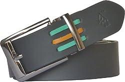 Sondagar Arts Men's Belt (SAB94_Black_38)