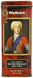 Walkers Shortbread Rounds, 10.6-Ounce Bonnie Prince Charlie Tin