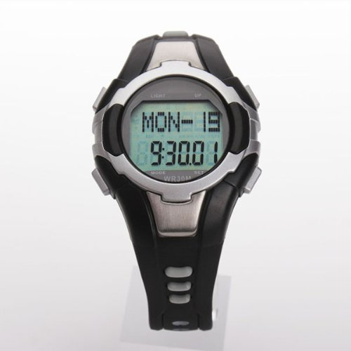 Pellor New Pulse Heart Rate Monitor with Pedometer and Backlight Watch