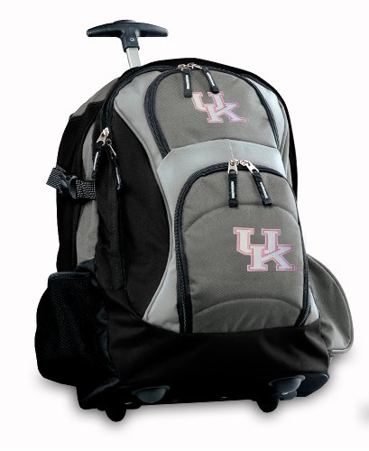 Kentucky Wildcats Rolling Backpack Deluxe Gray Ladies University Of Kentucky Be