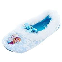 Disney Frozen Ballet 204 Slipper (Toddler/Little Kid), Light Blue, Large (9/10 M US Toddler)