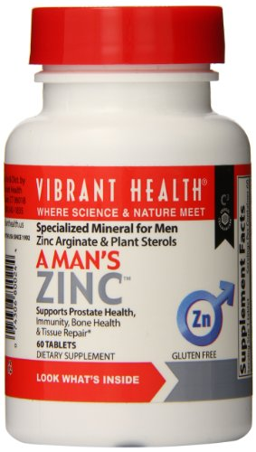 Vibrant Health A Man�S Zinc, 30 Mg Zinc + 200 Mg Phytosterols, 60 Tablets