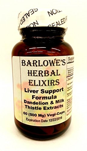 Liver Support Formula - 60 500Mg Vegicaps - Stearate Free, Bottled In Glass