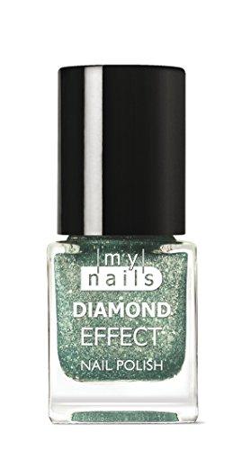 MY NAILS - GREEN DIAMOND EFFECT