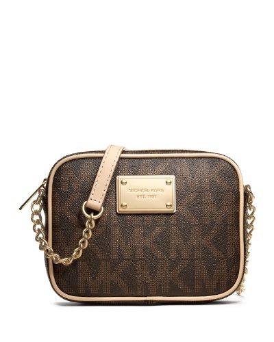 MICHAEL Michael Kors Mk Logo Crossbody Bag,Brown,one size
