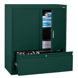 Elite series 36 file n store storage cabinet finish forest green storage - Green kitchen cabinets storage ...
