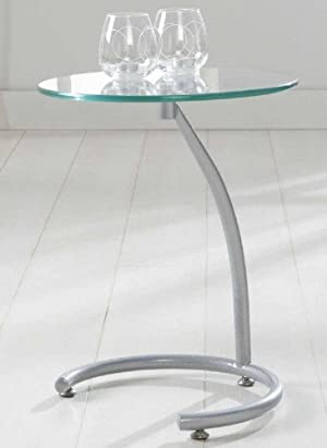 Beistelltisch Glas Design Wohnzimmertisch O 40 Cm Beistelltisch