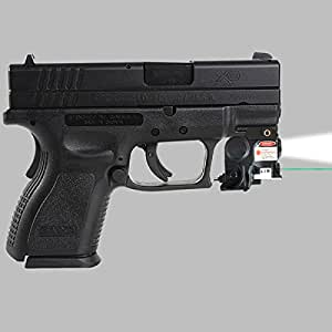 .com : HFIRE Subcompact Green Laser Sight Light Combo for Springfield