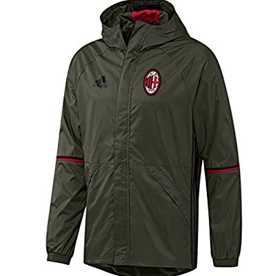 2016-2017 AC Milan Adidas Allweather Jacket (Night Cargo)