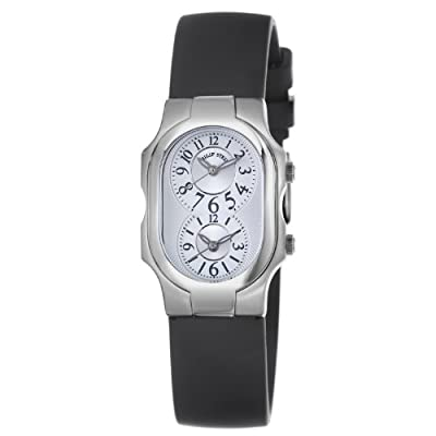 Philip Stein Women's 1-NFW-RB Signature Black Rubber Strap Watch