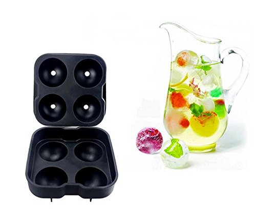 Maker ice party Whiskey Ice Cube Tray Silicone Mould Diy Freeze Round Ball Cocktails Party Bar (Han Solo Costume Diy)