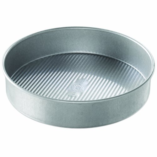 USA Pan Bakeware Round Cake Pan, 10 inch, Nonstick & Quick Release Coating, Made in the USA from Aluminized Steel (Usa Pans Pie compare prices)
