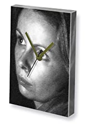 LALLA WARD - Canvas Clock (LARGE A3 - Signed by the Artist) #js002