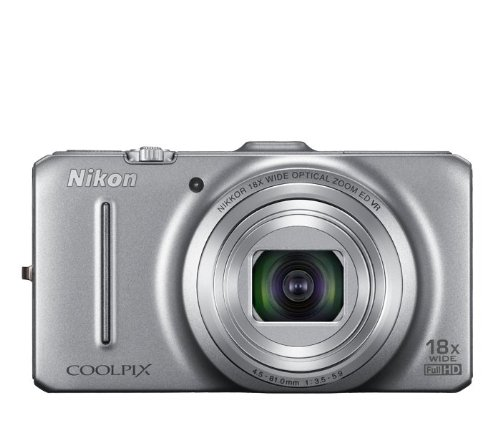 Nikon-Coolpix-S9300-16MP-Point-and-Shoot-Digital-Camera-Silver-with-4GB-Card-Camera-Pouch