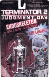 TERMINATOR 2 JUDGEMENT DAY ENDOSKELETON Action Figure - Mint on Card