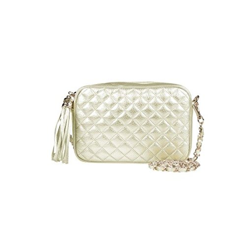 dearwyw-women-genuine-cow-leather-mini-waffle-quilted-square-cross-body-shoulder-bag-gold