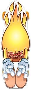 Buy World Industries Flameboy Custom Shape Cruiser Skateboard, Yellow, 8.25 x 31.25-Inch by World Industries