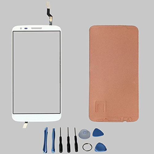 Touch Screen Glass Digitizer For Lg G2 D800 D801 D803 Ls980 Vs980 With Free Tools (Not Include Lcd) (White + Adhesive)