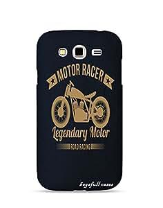Bagsfull Designer Printed Matte Hard Back Cover Case For Samsung Galaxy Grand 2 7106 7102