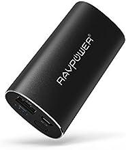 Batterie externe de Secours RAVPower Luster Chargeur portable avec la technologie iSmart 5200 mAh (sortie 2.4A, entrée 2A, Protection Multi-sécurités) pour iPhone, iPad, Android, smartphones Windows, tablettes etc. (Couleur noir)