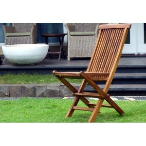 Chaises de jardin en teck : modèle pliant