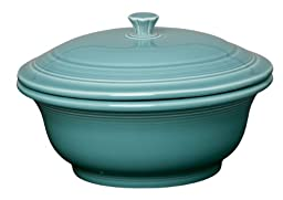 Fiesta 70-Ounce Covered Casserole, Turquoise