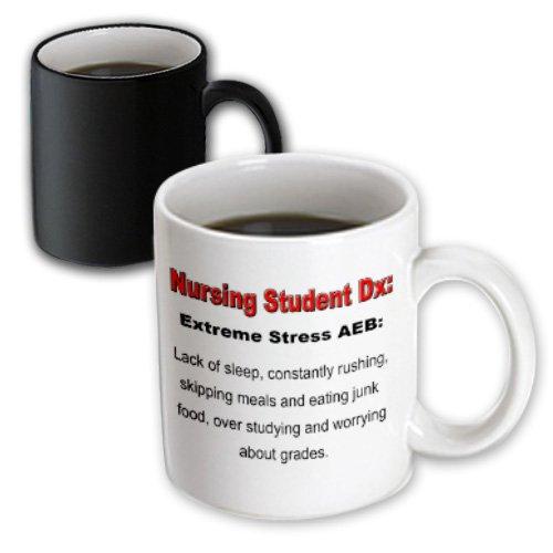 3Drose Nursing Student-Extreme Stress Aeb-Nursing Humor Magic Transforming Mug, 11-Ounce